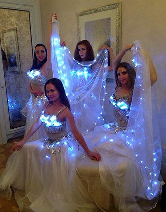 LED Belly Dance - White - رقص شرقي LED - أبيض