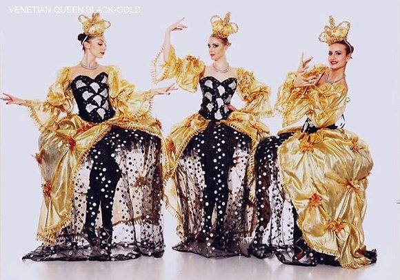 Venetian Queen Black/Gold - ملكة البندقية -أسود / الذهب