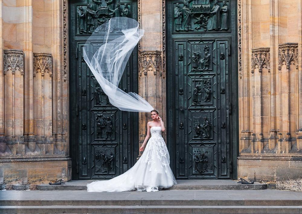 Mariée en robe princesse