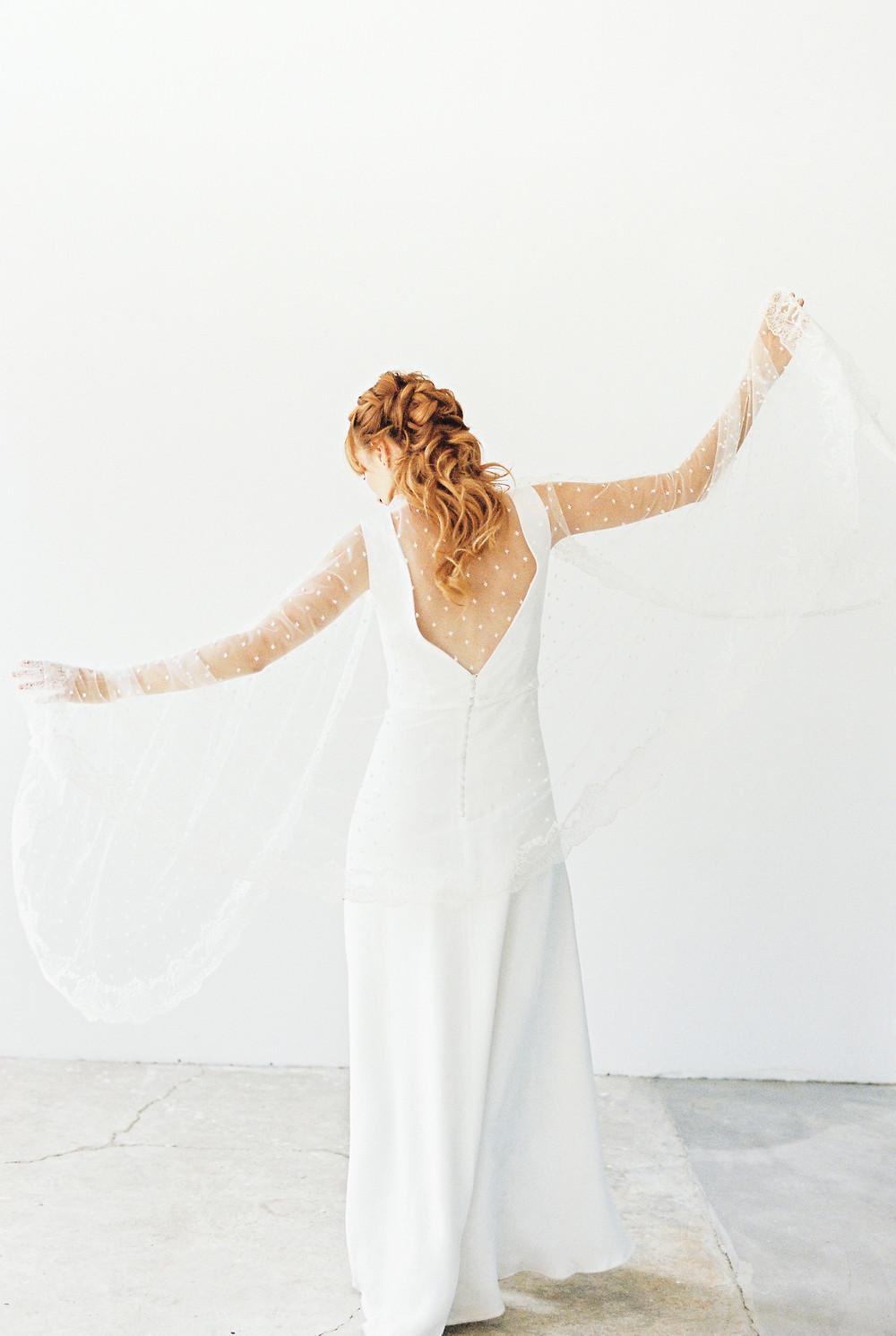 mariée en robe taille basse