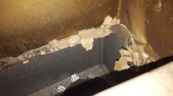 Asbestos inside supply vent