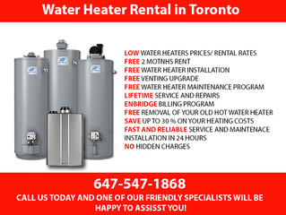 Water Heater Rental in Toronto