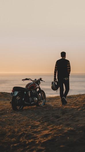 Sunset ride plage