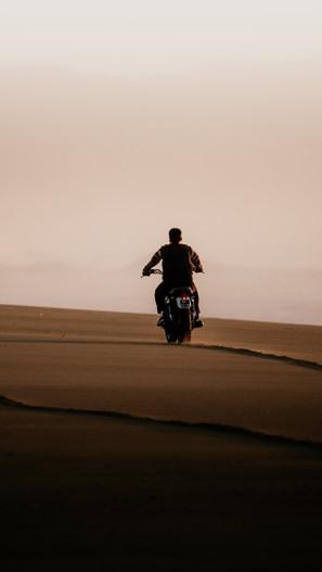 Shooting moto plage