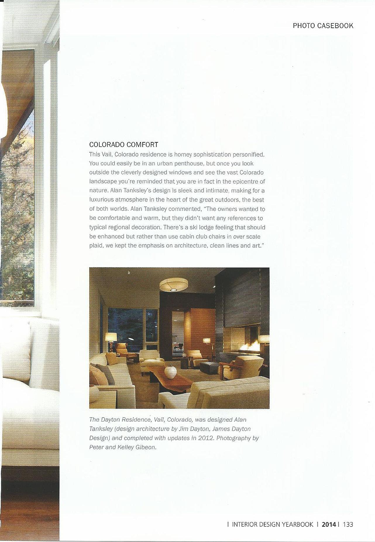 Alan Tanksley Interior Design Yearbook 2014