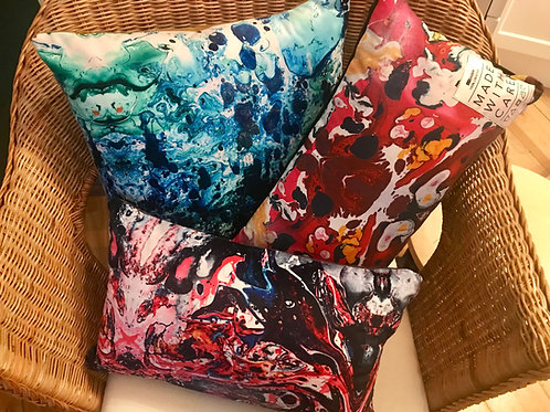 Made with Care - Marbled Cushion (Velvet)