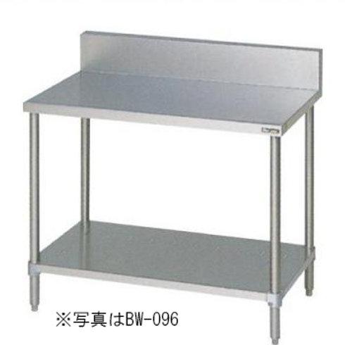 調理台・スノコ板付 BW-187 バックガード有り 外形寸法:幅1800×奥行750×高さ800