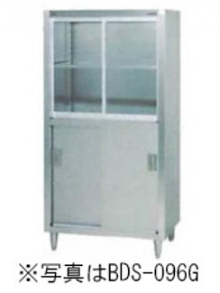 食器棚 BDS-097G 上段ガラス戸・下段ステンレス戸 外形寸法:幅900×奥行750×高さ1800