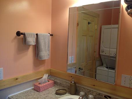 Hall Bathroom - washer and dryer