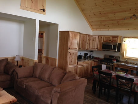 Open Concept Living, Dining and Kitche areas