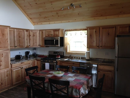 Kitchen and Dining with seating for 6