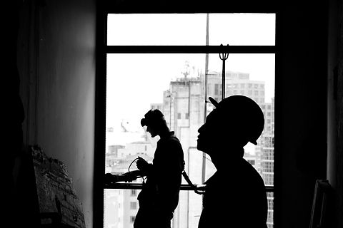 This photo was shoot during a visit to the reconstruction of the Othon building in the center of São