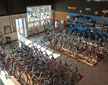 Bike Showroom Dennis Cycle Center Cape Cod Rail Trail
