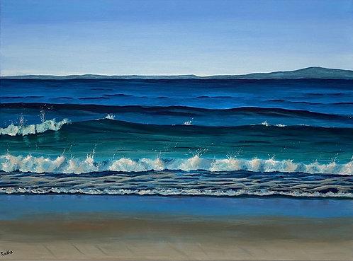 Spanish Bay Beach (18 x 24)