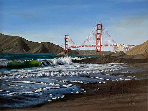 Baker Beach (18 x 24) - Available at SFWA Gallery