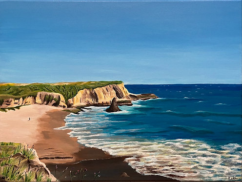 Davenport Beach (18 x 24)