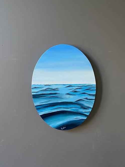 Waves (12 x 16 oval)