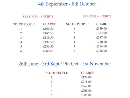 Pass Price June - November 2020