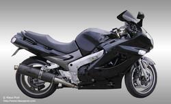 Sleek Black Motorcycle