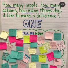 Focusing on the power of one is important because it makes us realize the impact one person, one smile, one work, one idea can have. The Power of One promotes self and social awareness.