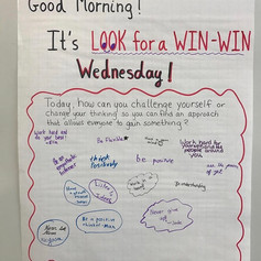 Looking for a Win-Win is always the goal, and there's no better day than a Wednesday to do so! This message support all the building blocks of SEL: self management, self awareness, social awareness, relationship skills, responsible decision making.