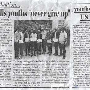 Media cover our entrepreneurship training graduation