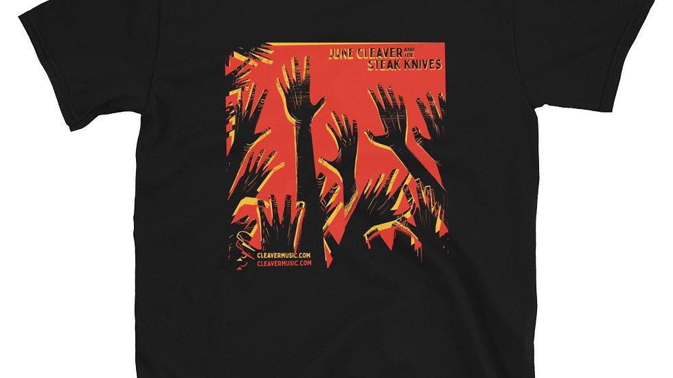 JCSK -Hands Red/Yellow on Dark Shirt