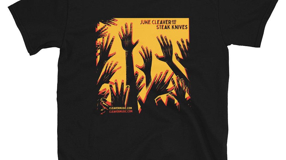 JCSK -Hands Yellow/Red on Dark Shirt