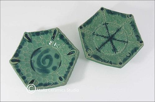 Hexagon dishes- / זוג צלוחיות משושה
