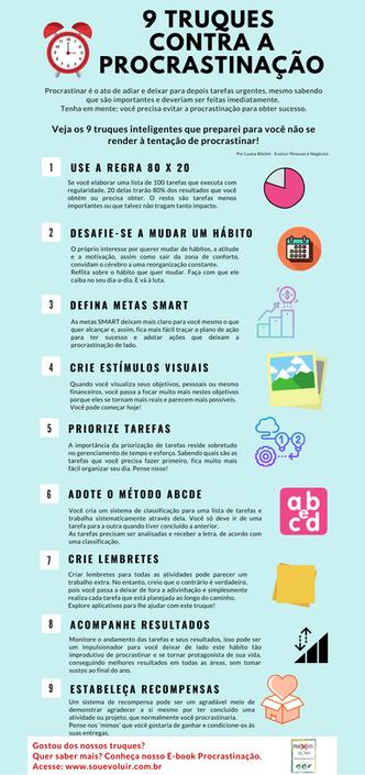 9 Truques contra a procrastinação