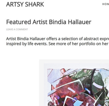 Artsy Shark featured artist for May 2021