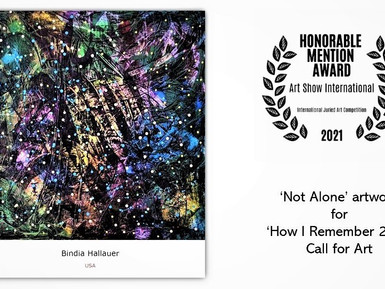 'Not Alone' featured in Art Show International's How I remember 2020 gallery