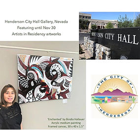 Pic featuring Artist Bindia Hallauer at Henderson City Gallery