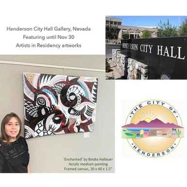 Artist in Residency - City Hall gallery, Henderson, Nevada