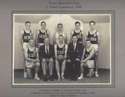1958 Basketball - Bill Dunstan, Barry Ch