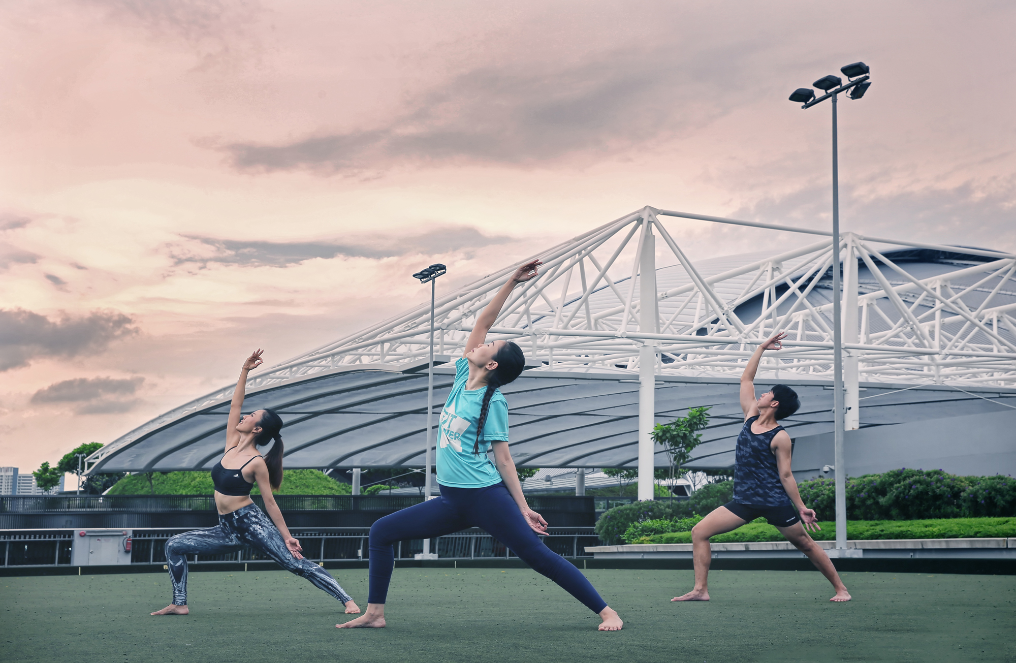 Sports Hub, Yoga, Commercial Photography