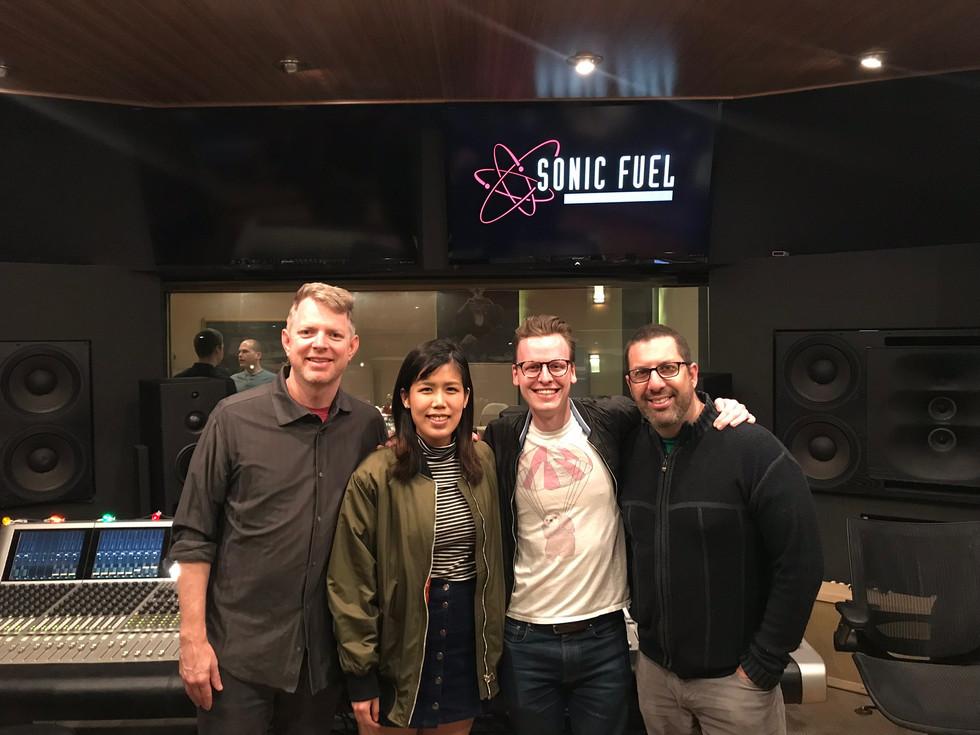 2018 Pete Carpenter Fellowship with (From Left) Tim Wynn, Casey Colb and Chris Lennertz