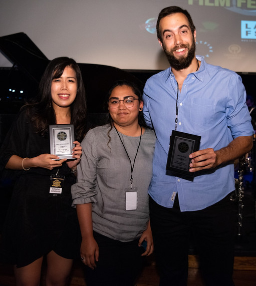 2019 LALSFF Best Original Score / Best Short for A Deep Breath, directed by Aliza Jafri and Ion Legarda