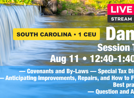 August 11: Dams • Session Two • 1 CEU