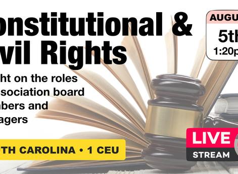 August 5: Constitutional & Civil Rights • 1 CEU