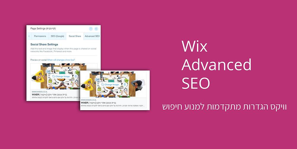 הגדרות מתקדמות למנועי החיפוש - אתרי וויקס