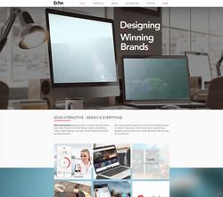 אתר תדמית על וויקס לחברת עיצוב