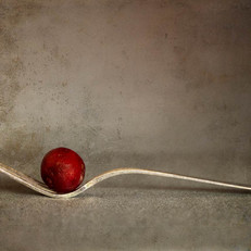Tenedor con uva
