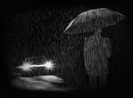"""""""Hombre bajo la lluvia"""""""