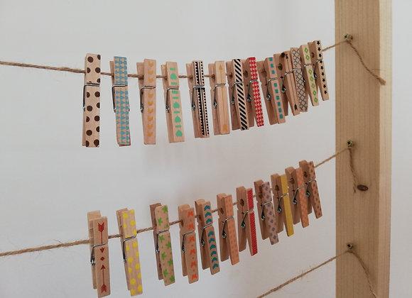 Dřevene kolíčky s barevným potiskem