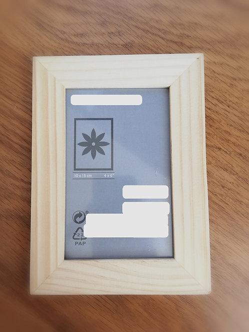 Rámeček na fotky světle hnědý 10x15 cm