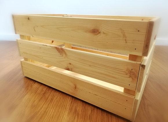 Velká dřevěná bedýnka