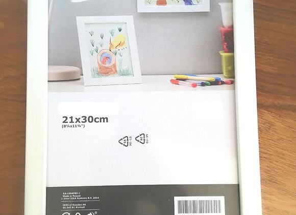 Bílý rámeček na fotku 21x30 cm