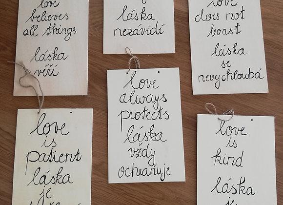 Cedule Love is../Láska je...