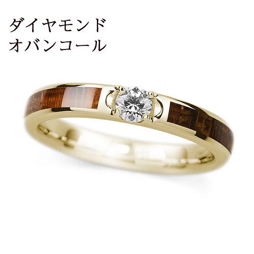 K18YG【世界の美木】結婚指輪 -ダイヤ入り-
